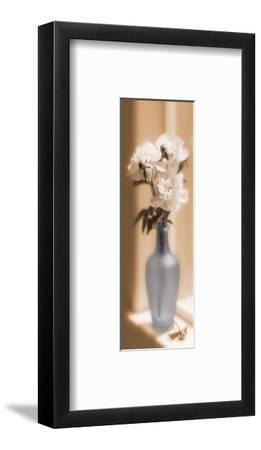 Peonies In A Blue Vase-Christine Zalewski-Framed Art Print