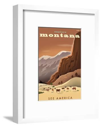 Explore Montana, See America-Michael Crampton-Framed Art Print