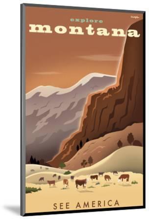 Explore Montana, See America-Michael Crampton-Mounted Art Print