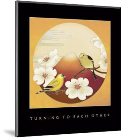 Turning To Each Other 1-Sybil Shane-Mounted Art Print