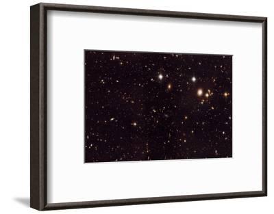 NASA - View of Spiderweb Galaxy Field--Framed Art Print
