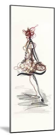 Catwalk Glamour II-Lou Lacroix-Mounted Art Print