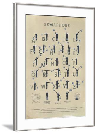 Semaphore-Ken Hurd-Framed Giclee Print
