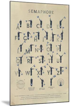 Semaphore-Ken Hurd-Mounted Giclee Print