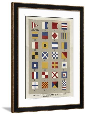 Nautical Flags-Ken Hurd-Framed Giclee Print