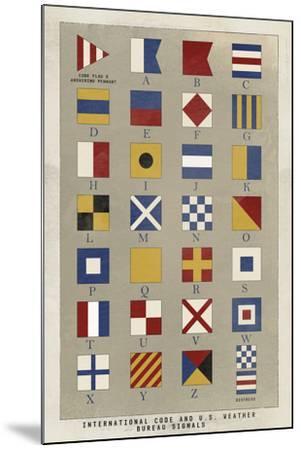 Nautical Flags-Ken Hurd-Mounted Giclee Print