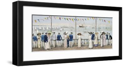 An Edwardian Season - Cowes Regatta-John S. Goodall-Framed Premium Giclee Print