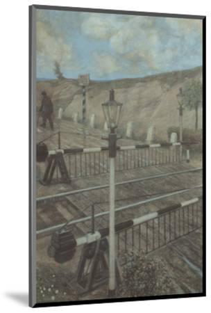 Railway Cycle: Boom Barrier-Hans Baluschek-Mounted Art Print