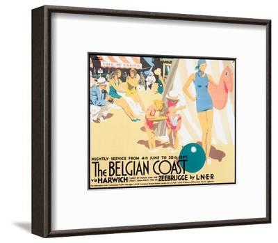 The Belgian Coast-Frank Newbould-Framed Art Print