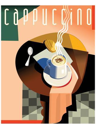 Cubist Cappucino II-Eli Adams-Framed Art Print