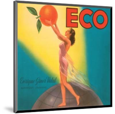 ECO Enrique Giner Vidal Oranges--Mounted Art Print