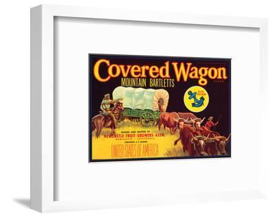 Covered Wagon Brand Mountain Bartletts--Framed Art Print