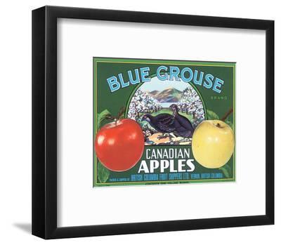 Blue Grouse Canadian Apples--Framed Art Print
