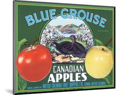 Blue Grouse Canadian Apples--Mounted Art Print