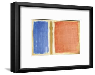 Large Quadrate I-Carmine Thorner-Framed Art Print