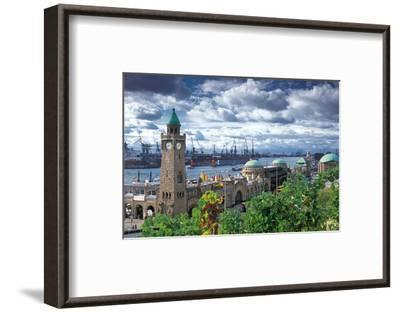 Hamburg Port - Landungsbr?cken--Framed Art Print