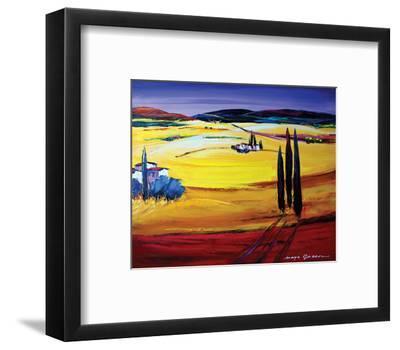 Mountain Breeze-Maya Green-Framed Art Print