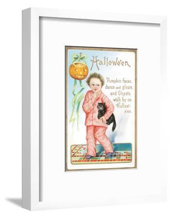 Halloween Pumpkin Faces--Framed Art Print