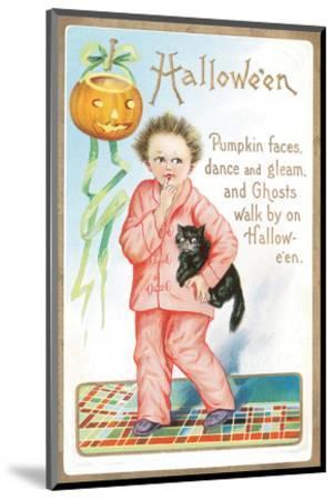 Halloween Pumpkin Faces--Mounted Art Print