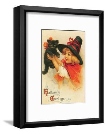 Halloween Greetings-Frances Brundage-Framed Art Print