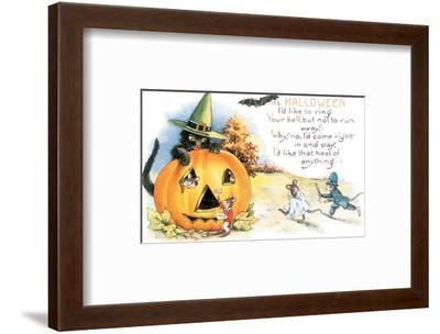It's Halloween--Framed Art Print