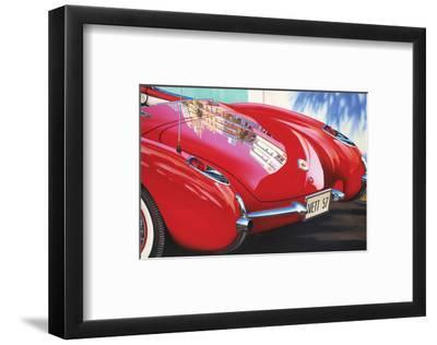 1957 Corvette-Graham Reynolds-Framed Art Print