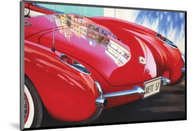 1957 Corvette-Graham Reynolds-Mounted Art Print