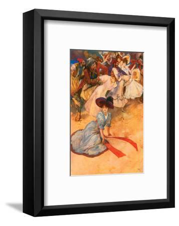 Too Late! Ha! Ha!-George Alfred Williams-Framed Art Print