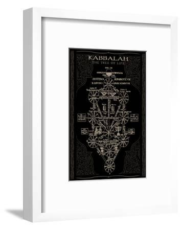 Kabbalah in Black II--Framed Art Print