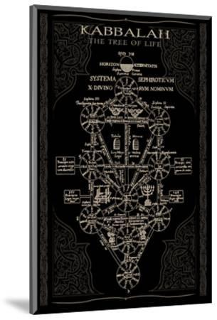 Kabbalah in Black II--Mounted Art Print