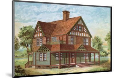 Victorian House, No. 18--Mounted Art Print