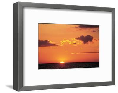 Ocean Sunset--Framed Art Print