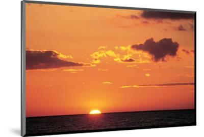 Ocean Sunset--Mounted Art Print