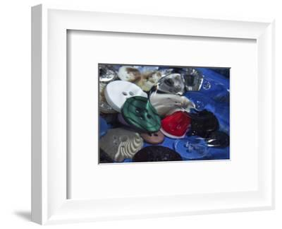 Red Button Green-Connie Publicover-Framed Art Print