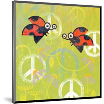 Peace Sign Ladybugs III-Alan Hopfensperger-Mounted Art Print