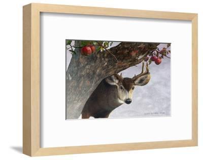 Apple Deer-Chris Vest-Framed Art Print