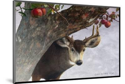 Apple Deer-Chris Vest-Mounted Art Print