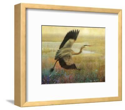 Foggy Heron-Chris Vest-Framed Art Print
