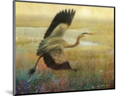 Foggy Heron-Chris Vest-Mounted Art Print