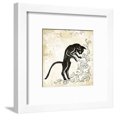 Standing Burlap Cat-Alan Hopfensperger-Framed Art Print