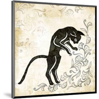 Standing Burlap Cat-Alan Hopfensperger-Mounted Art Print