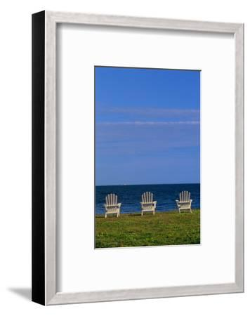Chairs by the Ocean I-Mike Grandmaison-Framed Art Print