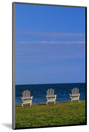 Chairs by the Ocean I-Mike Grandmaison-Mounted Art Print