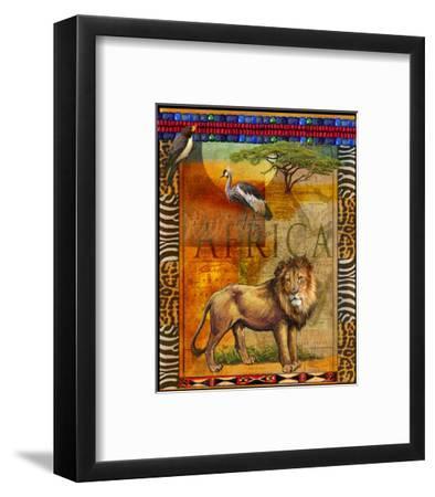 Lion I-Chris Vest-Framed Art Print