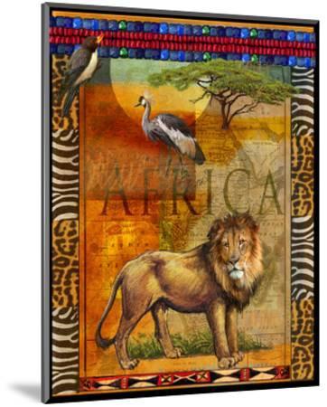 Lion I-Chris Vest-Mounted Art Print