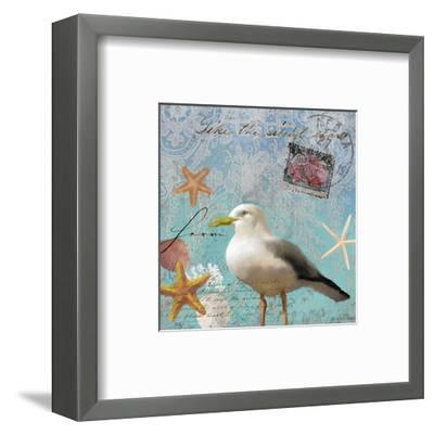 Gull Beach II-Rick Novak-Framed Art Print