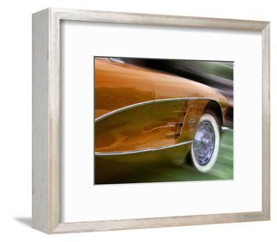 Orange Corvette-Richard James-Framed Art Print