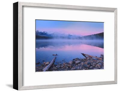 Fog at Dawn at Patricia Lake-Mike Grandmaison-Framed Art Print