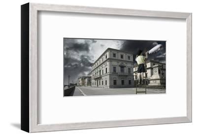 Zeppelin Child-Richard Desmarais-Framed Art Print