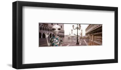 Alien Tourist in Venice-Richard Desmarais-Framed Art Print
